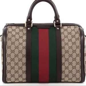 Gucci Boston Bag Vintage Web GG Web Stripe